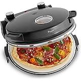 Four à pizza Peppo de Springlane Kitchen votre pizzaiolo pour des pizzas comme au four en pierre, à 350°C, avec minuterie et voyant, y compris deux grandes pelles à pizza