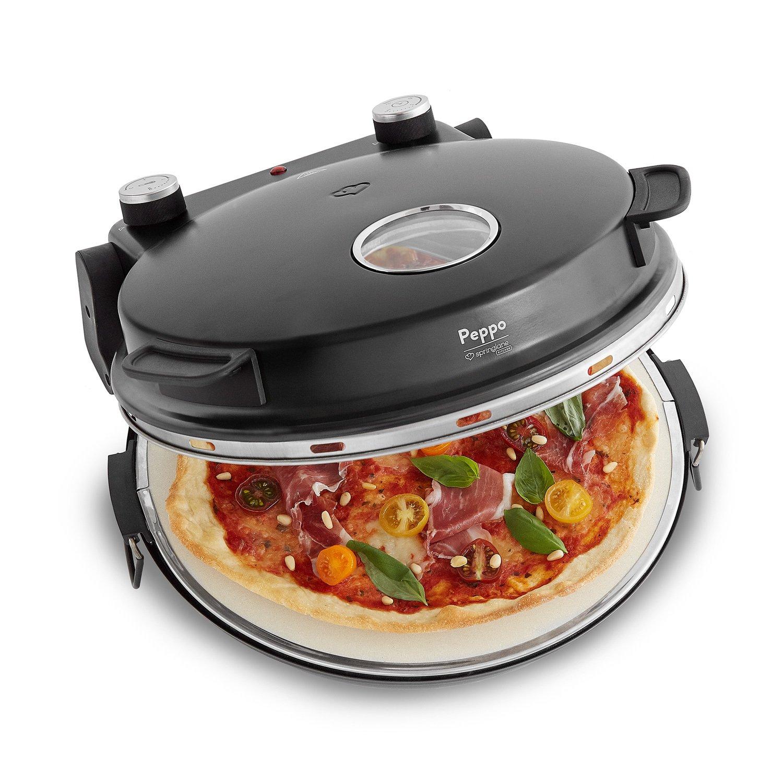 Forno per pizza Peppo di Springlane Kitchen pizza maker a 350 °C per una pizza come sfornata dal forno a legna con timer e spia di cottura incluse 2 spatole grandi per pizza