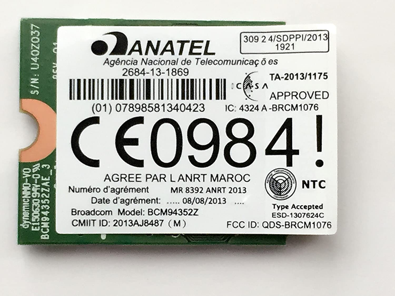 Amazon Com Broadcom Bcm94352z Dw1560 802 11a B G N Ac Wlan Bluetooth 4 0 M 2 Ngff Mini Card 867mbps Computers Accessories