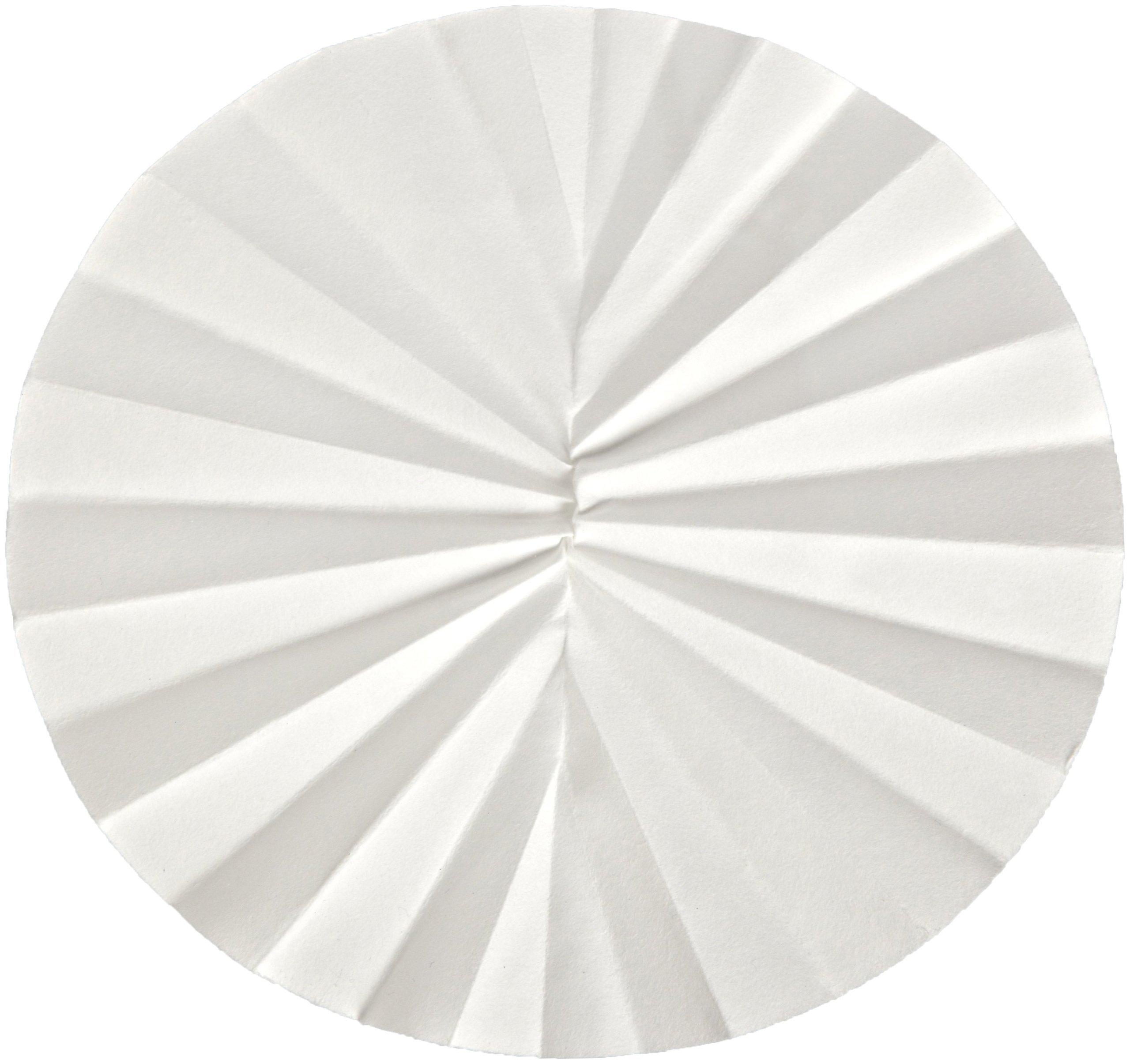 Whatman 10300145 Quantitative Folded Filter Paper, 4-12 Micron, Grade 589/2-1/2, 150mm Diameter (Pack of 100) by Whatman