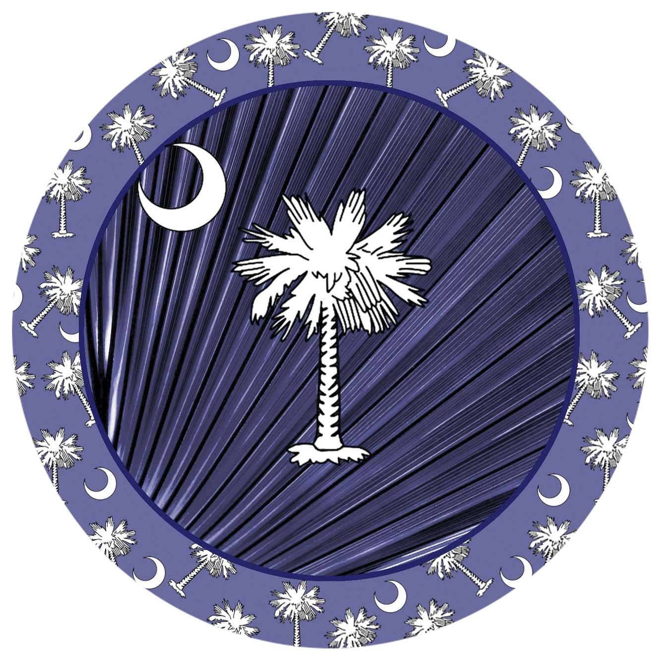 Navy Blue Palmetto V9067 Thirstystone Stoneware Coaster Set