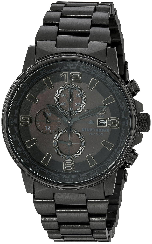 5655504a520 Amazon.com  Citizen Men s CA0295-58E Eco-Drive Nighthawk Stainless Steel  Watch  Citizen  Watches