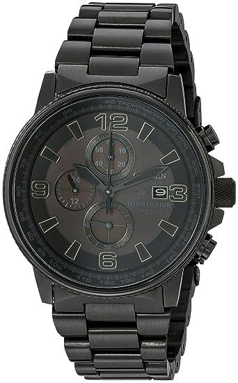 Citizen Mens Eco Drive Nighthawk Watch Black Ca0295 58e Citizen