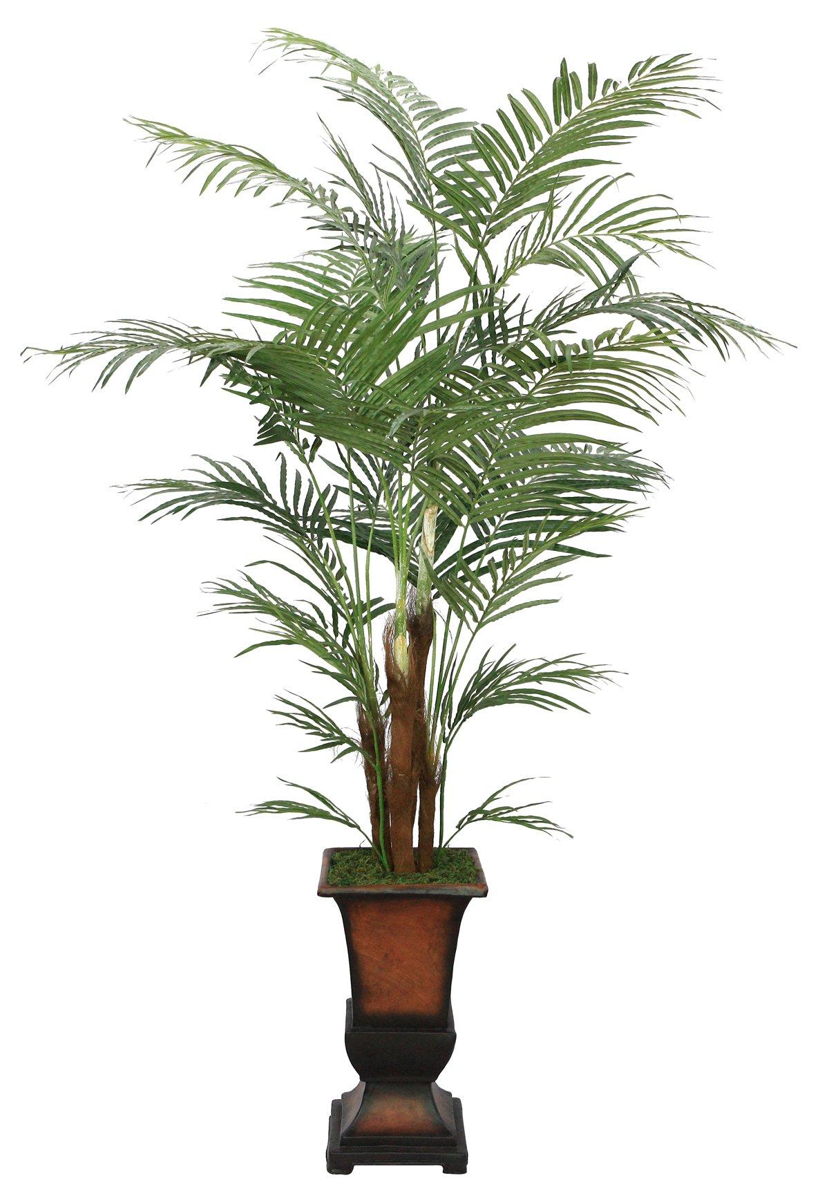 Laura Ashley 7 Foot Tall High End Realistic Silk Areca Palm Tree with Decorative Planter
