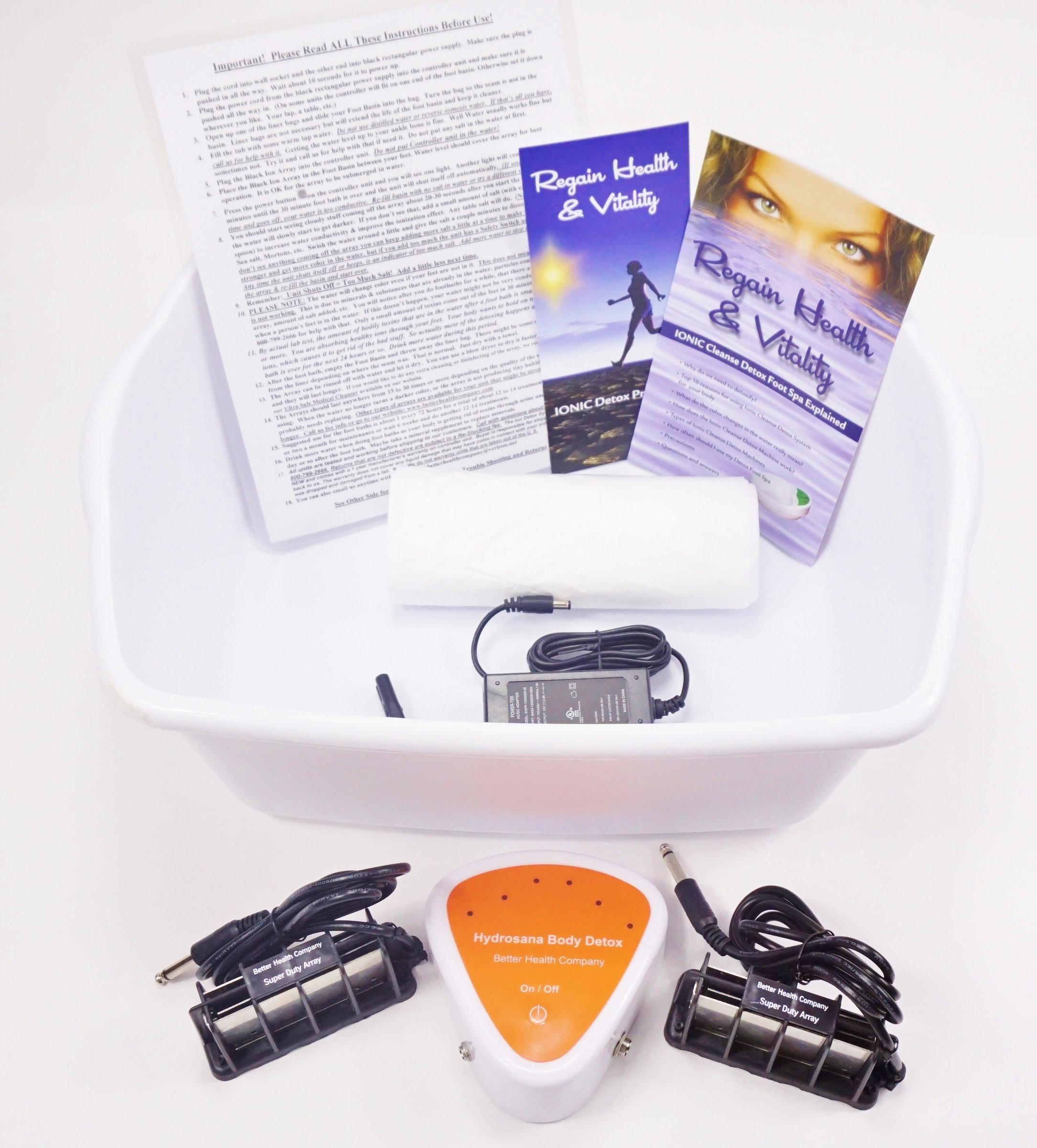 Ionic Ion Detox Foot Spa Bath Detox Chi Machine with Upgraded Stronger Super Duty Arrays