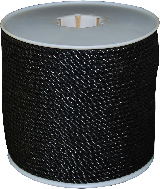 T.W Evans Cordage 191 Black Polypro Rope Evans Cordage Co. 1//4-Inch x 600-Feet T.W