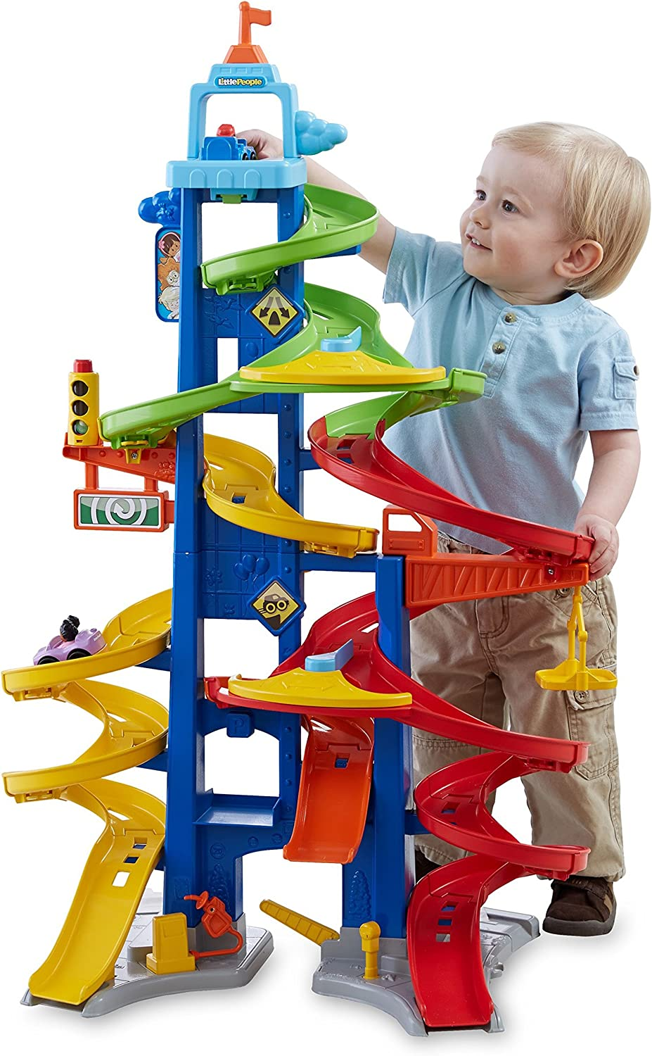 Amazon Com Fisher Price Little People City Skyway Toys Games
