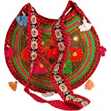 TribeAzure Sling Shoulder Crossbody Messenger Fashion Bag Embroidered Elephant Summer Beach Unique Boho