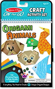 Melissa & Doug On the Go Origami Animals Craft Activity Set (38 Stickers, 40 Origami Papers, Great Gift for Girls and Boys - Best for 5, 6, 7, 8, 9 Year Olds and Up)