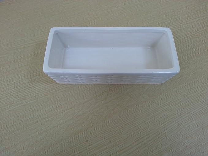 Lady Doc CDF08378 Umidificatore in Ceramica 10x6x22 cm Bianco