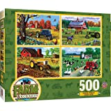 MasterPieces Multi Pack Jigsaw Puzzle, Farm & Country, 4-Pack, 500 Pieces