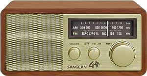 Sangean WR-11SE AM/FM Table Top Radio 40th Anniversary Edition Walnut