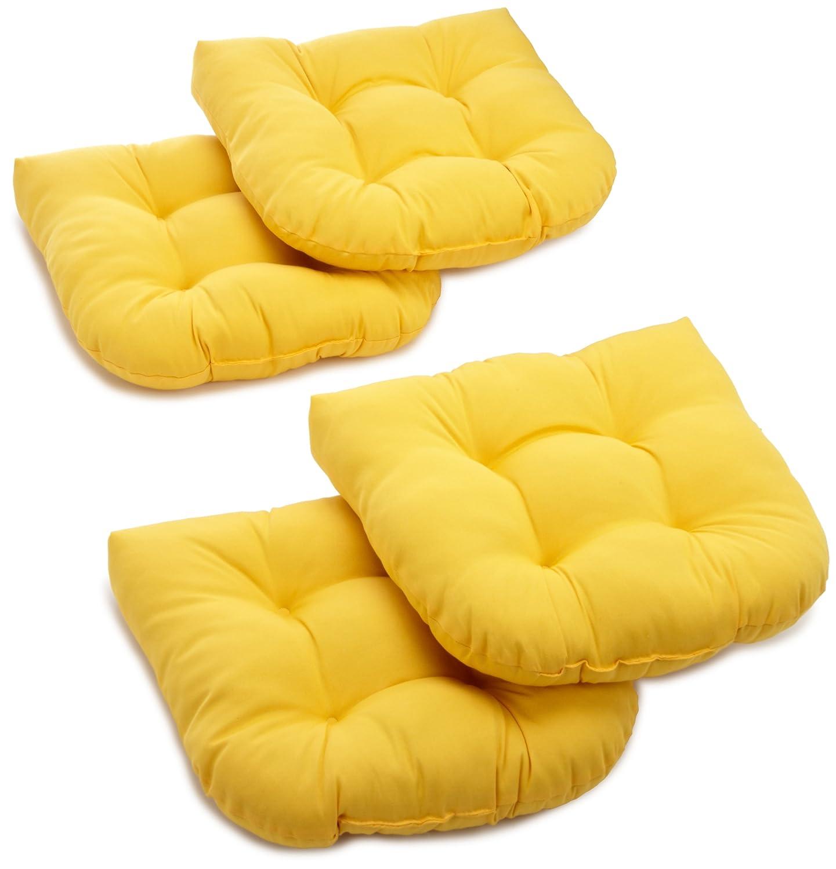 Amazing Amazon.com : Blazing Needles Twill 19 Inch By 19 Inch By 5 Inch U Shaped  Cushions, Sun Set, Set Of 4 : Patio Furniture Cushions : Garden U0026 Outdoor