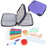Damero Ergonomic Crochet Hook Set - with Organizer Case and Complete Accessories /Crochet Kit, Purple by Damero