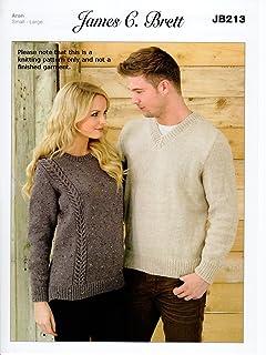 8b51fdfbca13c James Brett Knitting Pattern Instructions for Ladies Mens Jumpers Sweaters  in Rustic Aran JB213