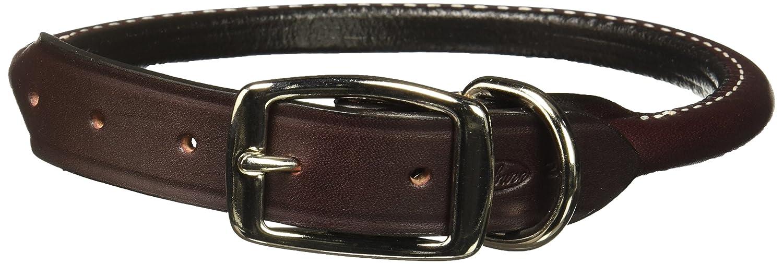 Auburn Leathercrafters Rolled Dog Collar Burgundy 20