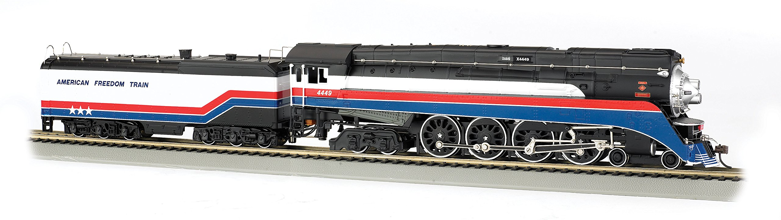 Bachmann Industries GS4 4-8-4 Locomotive - DCC Sound Value Equipped - American Freedom Train #4449 - HO-Scale Train