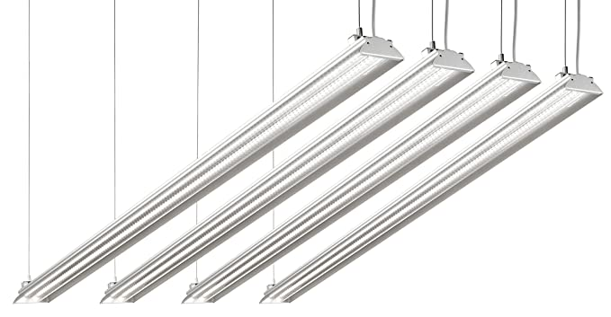 timeless design c937b 2e1a8 Hyperikon LED Shop Lights, 4ft Garage Utility LED Light Integrated Fixture,  35W (100W Eq.), 3800 Lumens, 4000K, DLC 4.2, Clear Cover - Perfect for ...