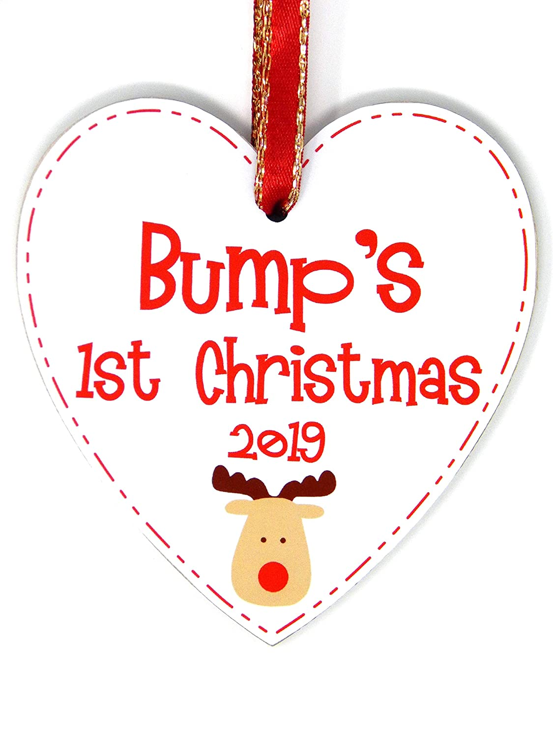 """Gift Tag New born /""""Mum to be/"""" Christmas Tree Bauble"""
