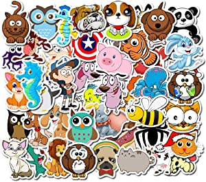 BONANA Animals Stickers Dog Cat Tiger Owl Graffiti Decal for Laptop Water Bottles Car Refrigerator Skateboard Helmet Luggage Bicycle