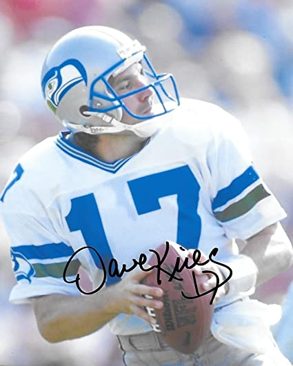 d23618007 Dave Krieg, Seattle Seahawks, Signed, Autographed, 8X10 Photo, a COA With