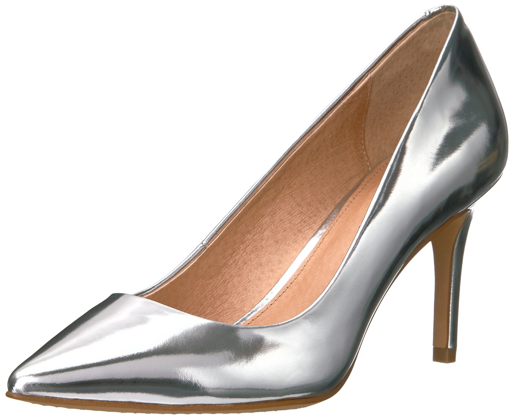 206 Collective Women's Mercer Dress Pump, Silver Mirror, 8 B US by 206 Collective (Image #1)