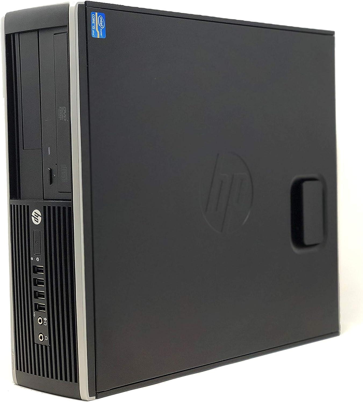 HP Elite 8300 - Ordenador de sobremesa (Intel Core i7-3770, 16GB de RAM, Disco SSD 240GB + 500GB HDD, Lector DVD, Grafica 2GB, WiFi PCI, Windows 10 Pro ES 64) - Negro (Reacondicionado)