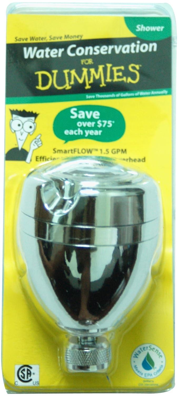 SmartFLOW PF0555 WaterSense Three Spray Pattern, Swivel, Water Saving Efficient Massaging Showerhead – Chrome Finish - 1.5 GPM low-cost