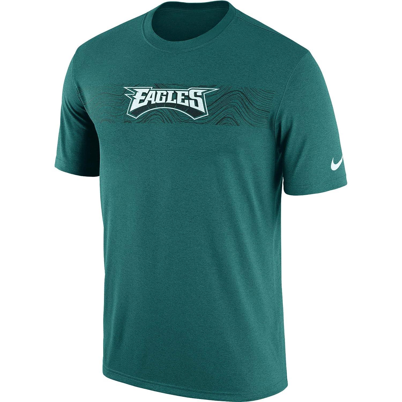 c65df45f1378 Amazon.com   Nike Philadelphia Eagles Youth Boys Sideline Seismic DRI-FIT T- Shirt - Marine Green   Sports   Outdoors