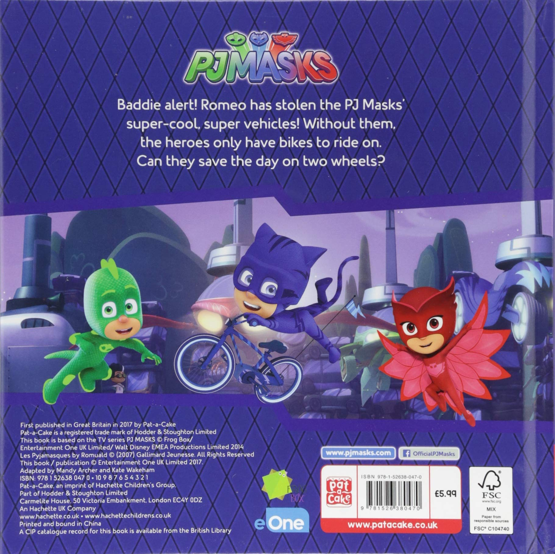 Pedal Power: A PJ Masks story book: Amazon.es: Pat-a-Cake, PJ Masks: Libros en idiomas extranjeros