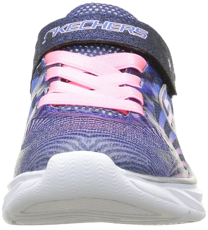 Skechers Pepsters Colorbeam, Baskets Basses Filles, Bleu (Nvpk Marine/Rose), 31 EU