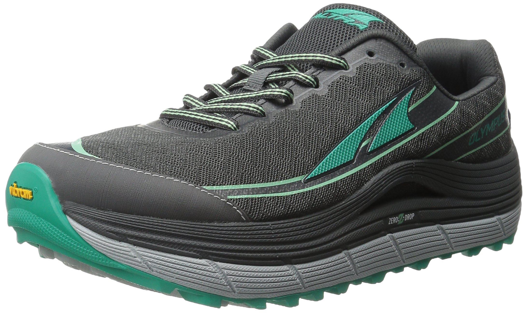 Altra Women's Olympus 2 Trail Running Shoe, Silver/Green, 10 M US