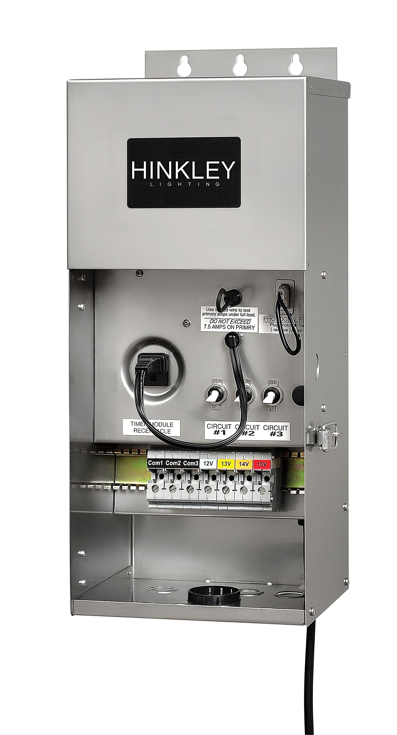 Hinkley Lighting 0900SS Pro Series Multi-Tap 12-15 Volt 900 Watt Transformer, Stainless Steel by Hinkley