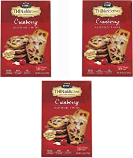 product image for Nonni's Thin Addictives Cranberry Almond Thins 4.4oz ( 3 Pack)