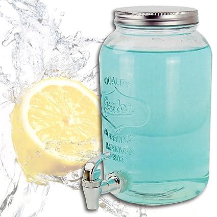 (382) Dispensador de Bebidas, depósito de Cristal con Grifo, Capacidad: 3
