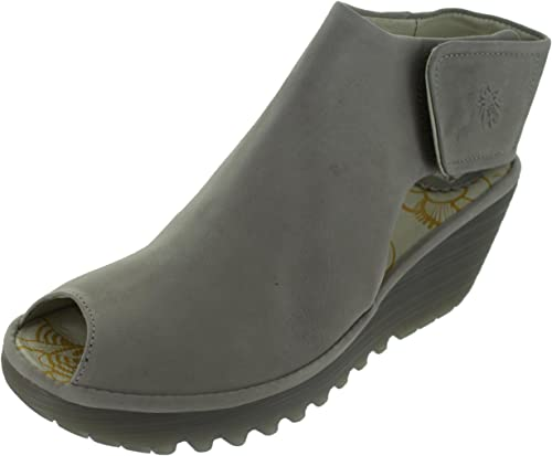 5b5a2112045b1 Fly London Womens Yone Cupido Cloud Grey Leather Wedge Heel Shoes Size 9:  Amazon.co.uk: Shoes & Bags