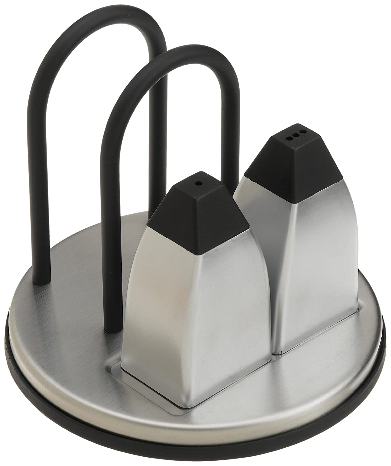 Prodyne M-915 Stainless Steel Napkin Holder with Salt and Pepper Shakers