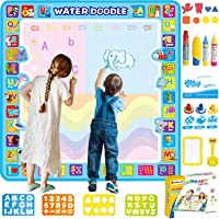 Shiryas Extra Large 100X100 CM Aqua Magic Water Doodle Mat ألعاب الأطفال Water Drawing, Coloring and Doodling Mat for…