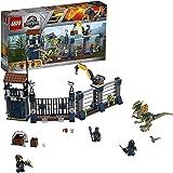 LEGO Jurassic World - Ataque del Dilofosaurio al Puesto de Vigilancia, Juguete de Construcción con Dinosaurios Creativo…