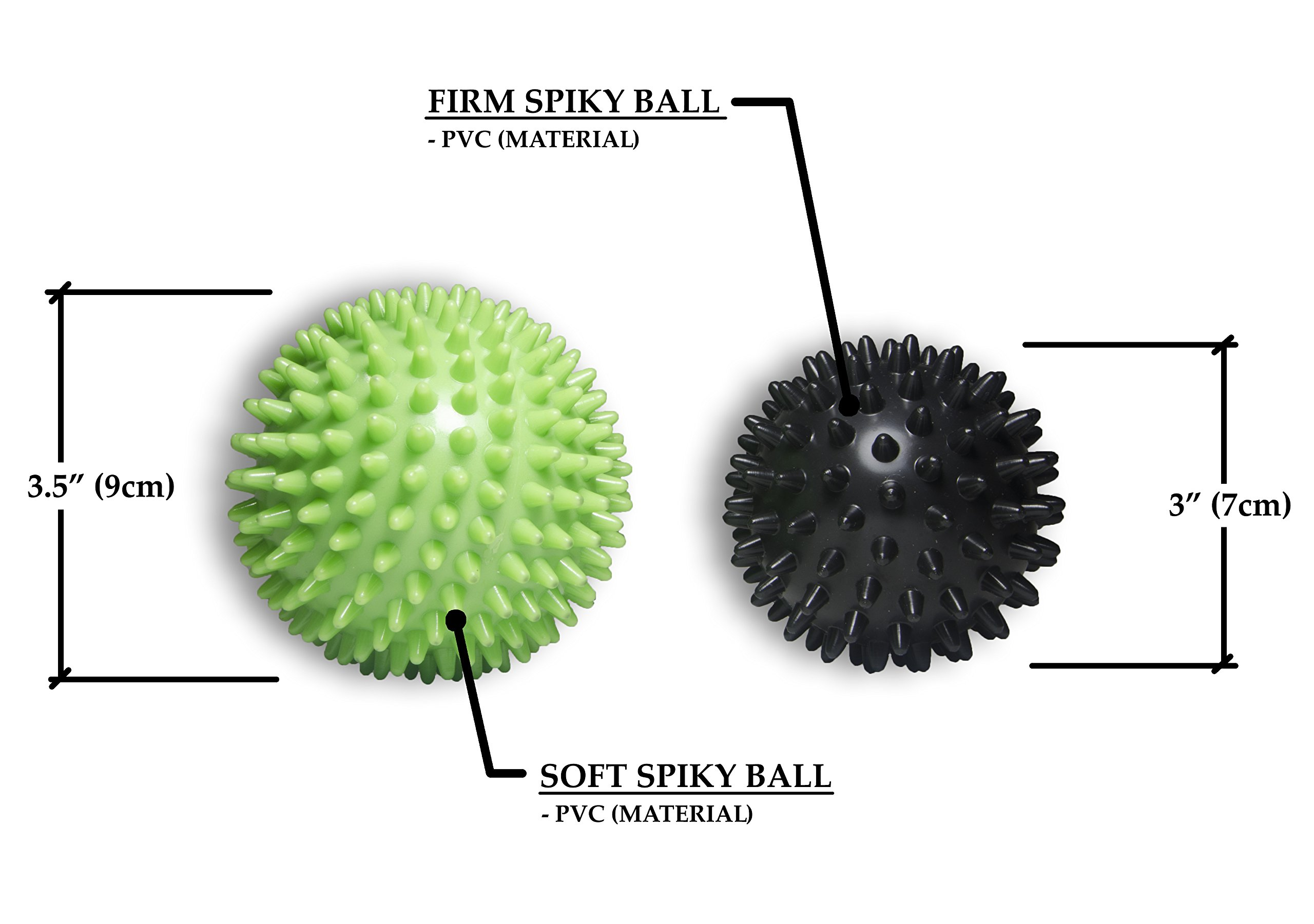 Flex Life Massage Ball Set & Muscle Roller Stick Massager - 2 Spiky Ball, 1 Lacrosse Ball, 1 Peanut Ball, (1) 18'' Roller Stick. Great Rollers For Plantar Fasciitis, Mobility, Recovery, Soreness by Flex Life (Image #3)