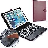 Funda-teclado Sony Xperia Tablet Z, COOPER TOUCHPAD EXECUTIVE Funda 2 en 1, cuero teclado, ratón inalámbrico Bluetooth, soporte LTE Wi-Fi SGP321 SGP311 SGP312 (Morado)