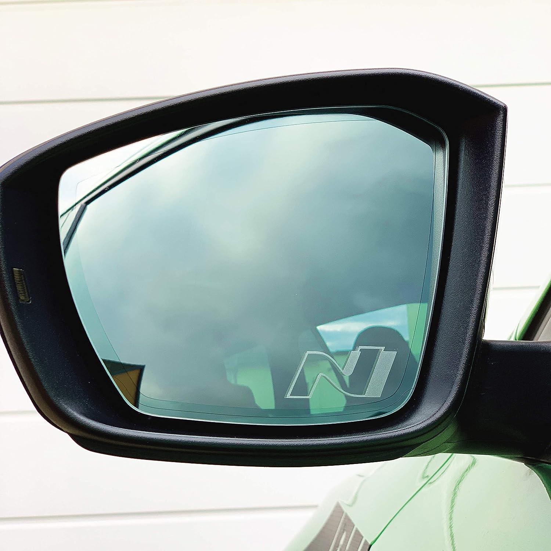 Printattack P047 V2 2er Set Spiegelaufkleber Milchglas Außenspiegel Etched Glass Auto Aufkleber Sticker Rückspiegel Auto