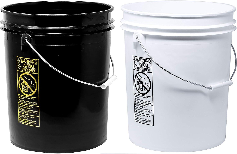 Detailmate 2 Wash Buckets In 5 Gallonen Für Das Zwei Eimer Waschprinzip Passend Für Grit Guard Eimereinsatz Grit Guard Washboard Sowie Gamma Seal Lids 2 Eimer Wäsche Auto
