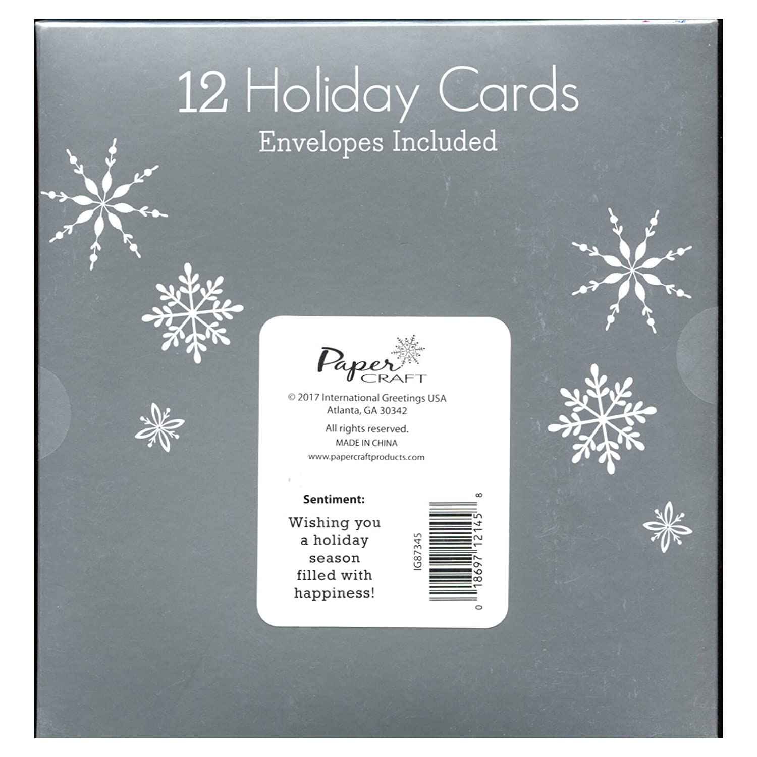 Amazon Papercraft Boxed Christmas Holiday Cards 12 5 X 7