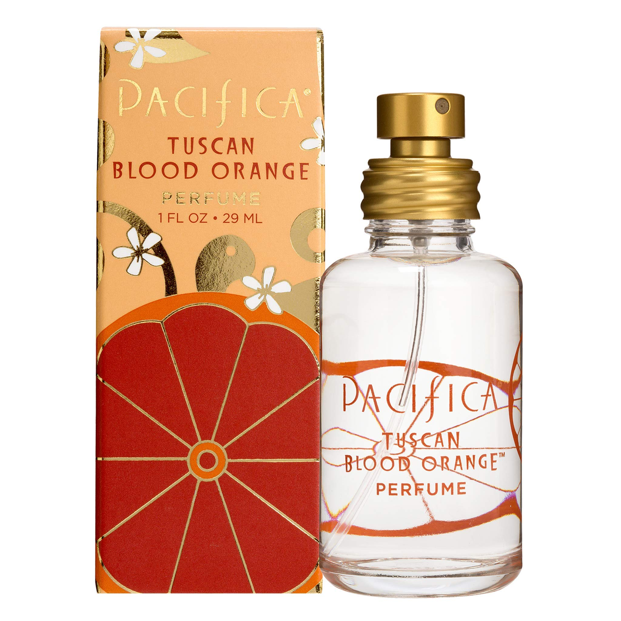Pacifica Beauty Tuscan Blood Orange Spray Perfume, Made with Natural & Essential Oils, 1 Fl Oz