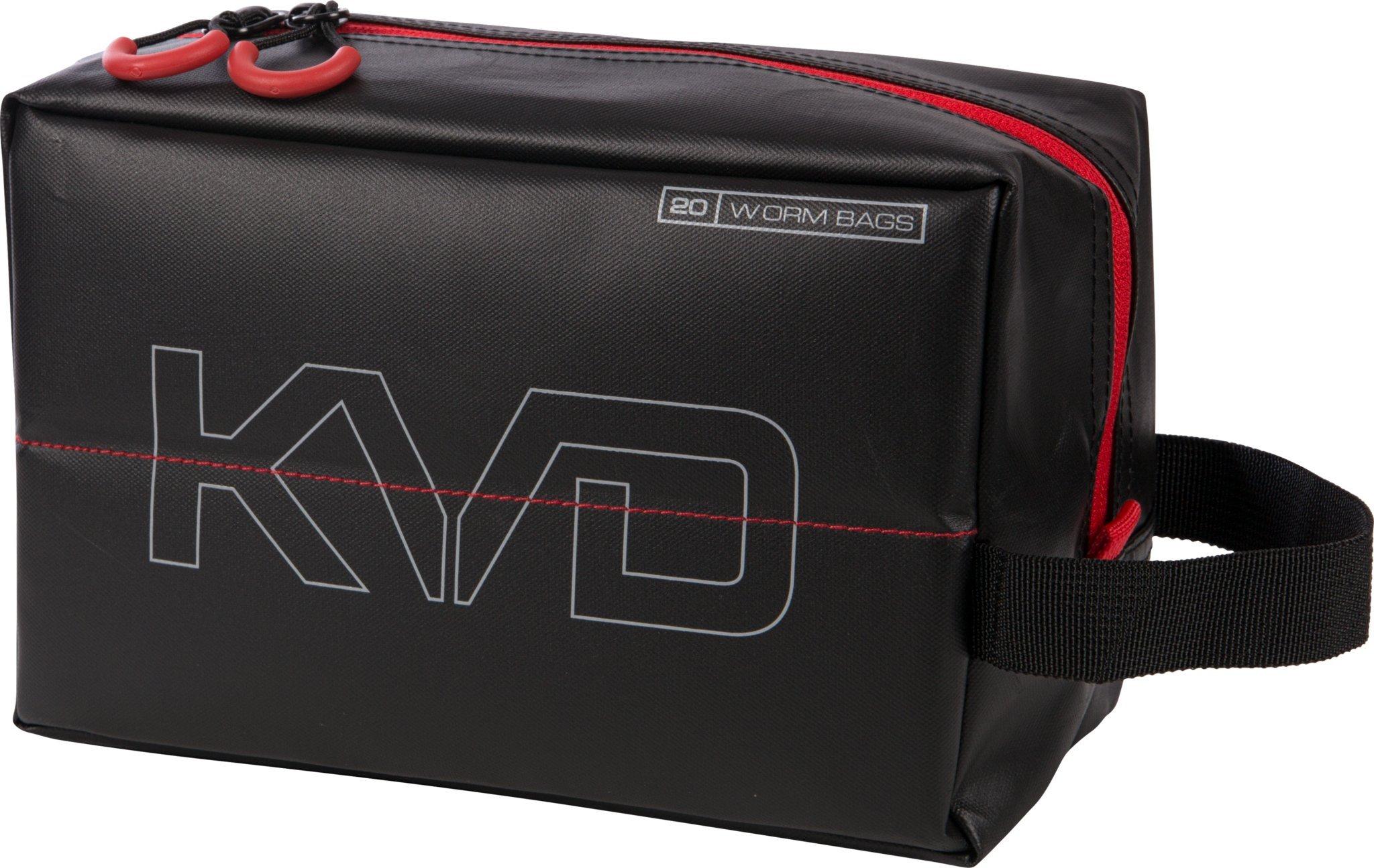 Plano PLAB11700 KVD Worm Speedbag, Black/Grey/Red, Small (Holds 20 Worm Bag)
