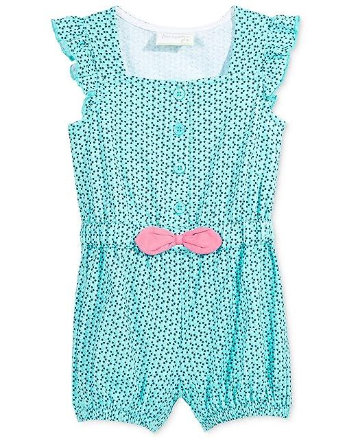 fd02239591e3 Amazon.com  First Impressions Baby Girls  Geo-Print Romper- Light ...