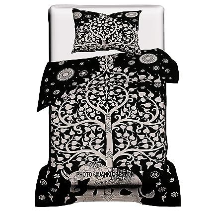 Indian Duvet Quilt Cover Ombre Mandala King Size Bedding Ethnic Boho Blanket Set