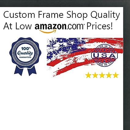 Amazon.com - 30x30 Contemporary Black Wood Picture Square Frame - UV ...