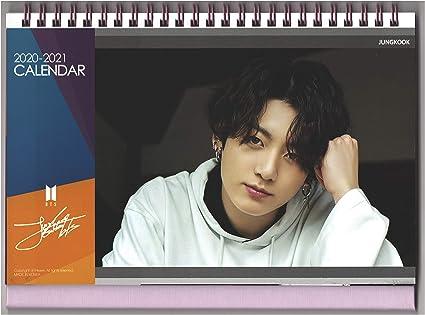 mini photo card /2020/calendario da tavolo BTS Bangtan Boys 2019/ supporto foto adesivi Jungkook Calendar